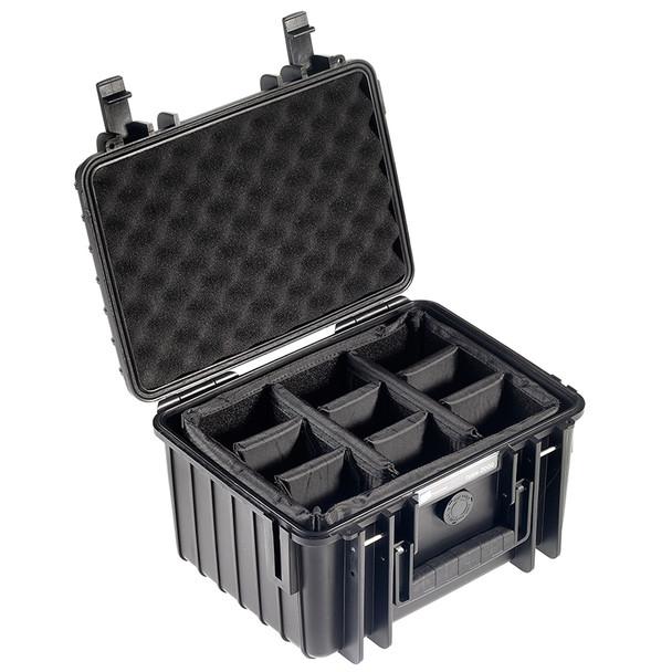 B&W INTERNATIONAL Type 2000 Black Outdoor Case with RPD Insert (2000/B/RPD)