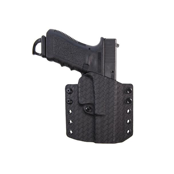 COMP-TAC Warrior Basket Weave Right Hand Black OWB Kydex Holster For Glock 19/23/32 Gen 1-5 (C847GL223R00N)