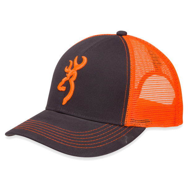 BROWNING Flashback Charcoal/Neon Orange Cap (308177621)