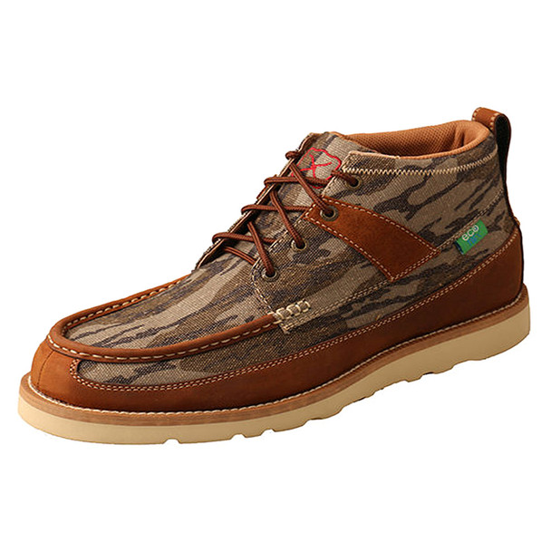 TWISTED X Men's Camo/Oiled Saddle Casual Loafer Boot (MCA0034)