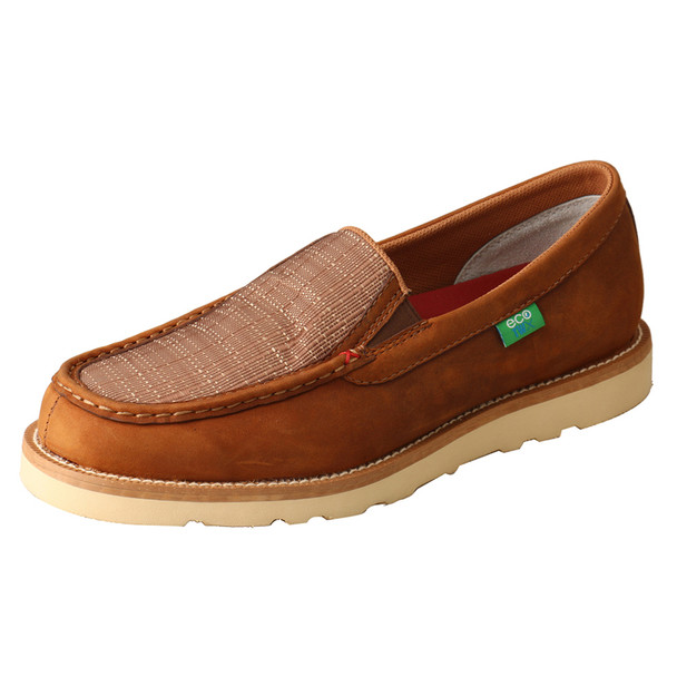 TWISTED X Men's B Toe Oiled Saddle/Coffee Casual Loafer Shoe (MCA0037)
