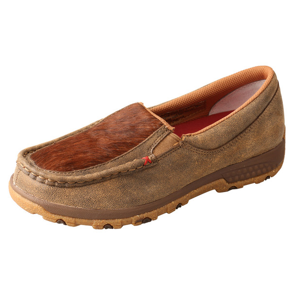TWISTED X Women's Bomber/Brindle Slip-On Driving Moc with CellStretch (WXC0011)