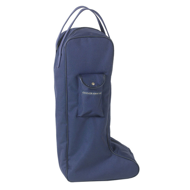 CENTAUR Solid Lined Navy Tall Boot Bag (464613NAVY-TLBT)