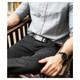 SLIDEBELTS Mens Ash Leather Zinc Buckle Belt (CONTRASTASHZIN)
