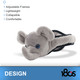 180S Youth Elephant Gray Ear Warmer (41505-926-01)