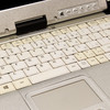 Scratch & dent Toughbook CF-C2 keyboard discoloration (close up)