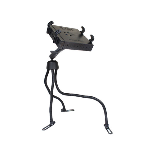 "RAM Pod™ III Vehicle Mount with Double Ball Mount (1.5"" Ball) & Universal Tough-Tray™ Laptop Holder (RAM-316-3BA1U)"