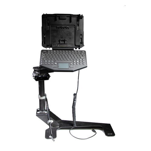 2007-2014 Chevrolet/ GMC Trucks & Full Size SUV Pedestal System Kit with TabCruzer Dock and USB rubber keyboard