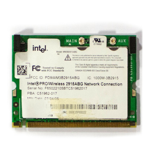 Intel PRO/Wireless 2915ABG Network Connection WiFi Card