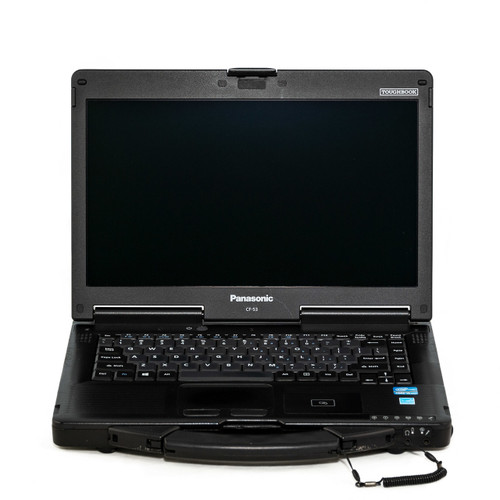 Refurbished Panasonic CF-53 MK3 semi rugged laptop with touch screen. This is an actual unit from our inventory.