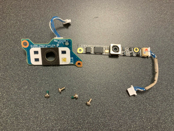 Top view of the webcam and camera light pcb board for the Panasonic Toughbook CF-H2 MK1