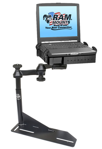 No-Drill™ Laptop Mount for the '91-'11 Ford Crown Victoria Police Interceptor & more