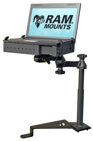 RAM No-Drill™ Laptop Mount for the '17 - '20 Ford F-Series, '14-'20 Transit Connect & More