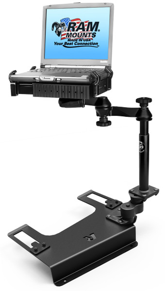 No-Drill™ Laptop Mount for the Chevrolet Silverado 1500/2500/3500, Suburban, Tahoe, GMC Sierra 1500/2500/3500