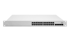 Meraki MS225-24P L2 Stackable Cloud Managed 24x GigE 370W PoE Switch
