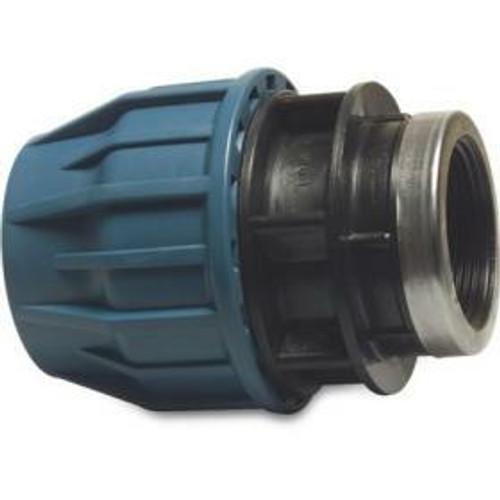 female threaded compression adaptor for polyethylene pipe