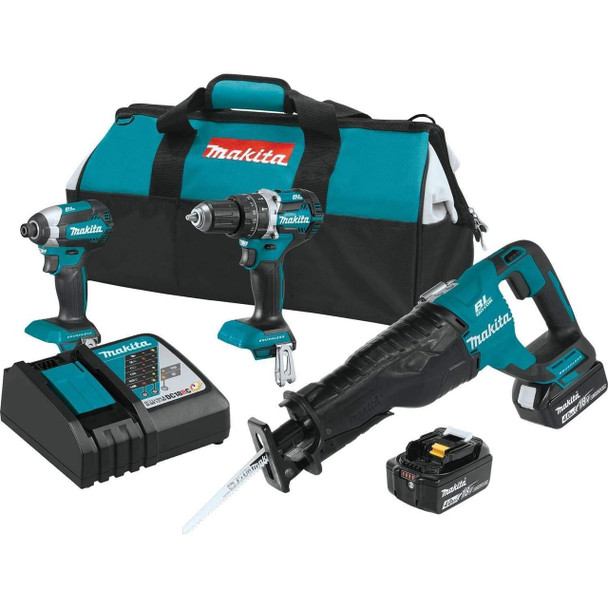Makita XT328M 4.0 Ah 18V LXT Lithium-Ion Brushless Cordless Combo Kit