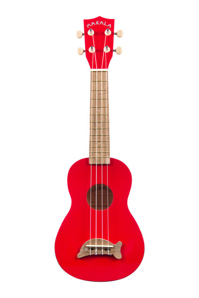 Kala Makala Dolphin Soprano Ukulele - Candy Apple Red