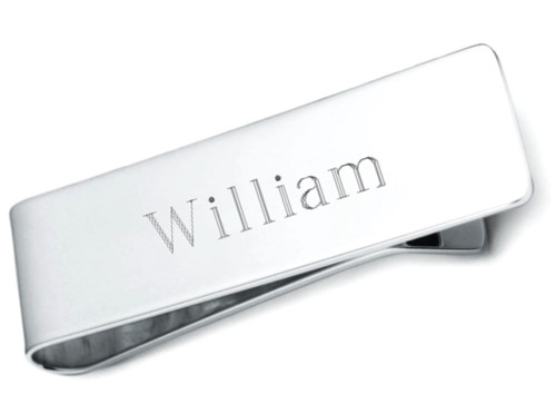 Engraved Example Sterling Silver Money Clip
