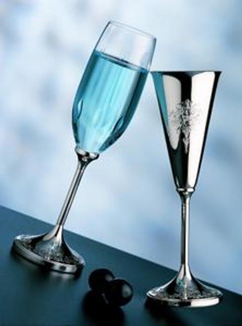 Caroline Crystal Champagne Goblet - Sterling