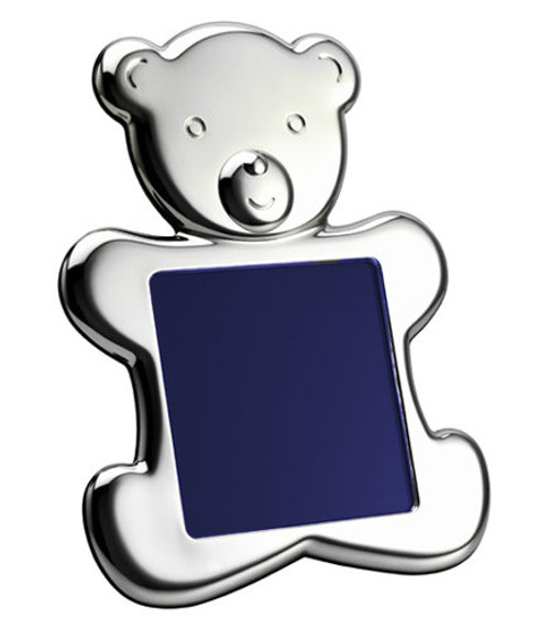 Engravable 'Teddy Bear' (silhouette) 4x4 Sterling Silver Picture Frame