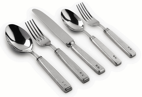 Val Peltro 'President' Pewter 5PC Flatware Set