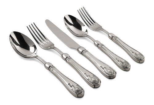 Val Peltro Eloro Pewter 5PC  Flatware Set