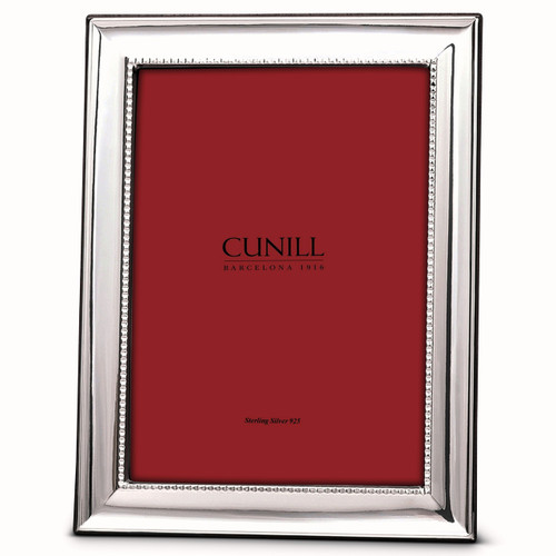 Engravable 'Grooves' 5x7 Non-Tarnish Sterling Silver Picture Frame