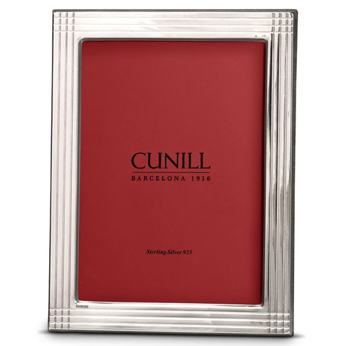 'Pinstripe' 8x10 Non-Tarnish Sterling Silver Picture Frame