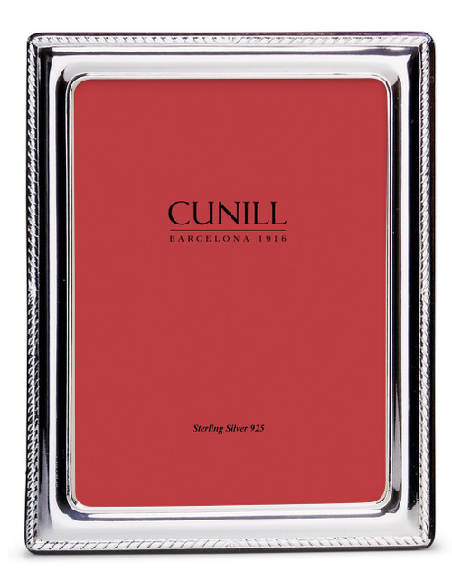 CUNILL Sterling Silver Elegance 8x10 Picture Frame
