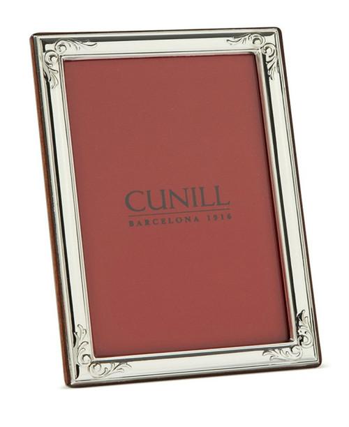 Engravable 'Accenti' 5x7 Non-Tarnish Sterling Silver Picture Frame