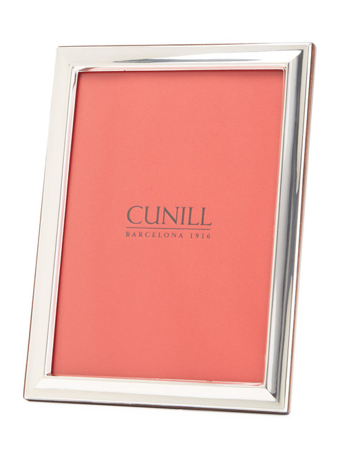 Engravable 'Beveled' 8x10 Non-Tarnish Sterling Silver Picture Frame