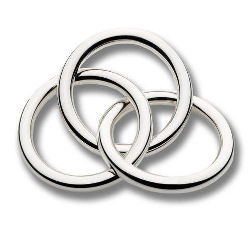 '3 Rings' Sterling Silver Baby Rattle