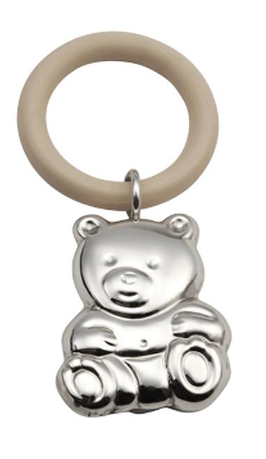 'Teddy' Sterling Silver Teething Ring