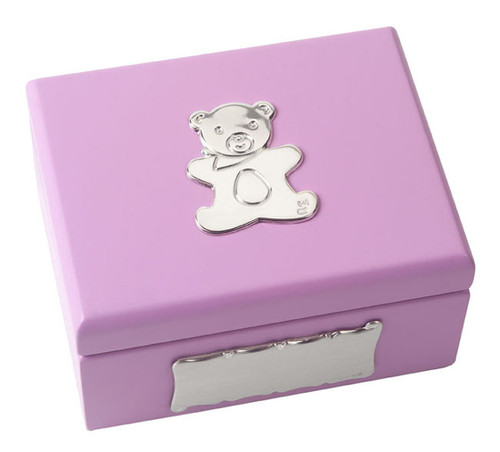 Pink Baby Box - Sterling/Wood