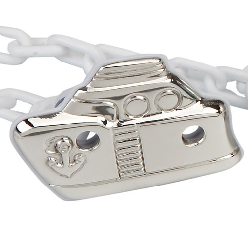 'Sailor' Sterling Silver Baby Pacifier Clip