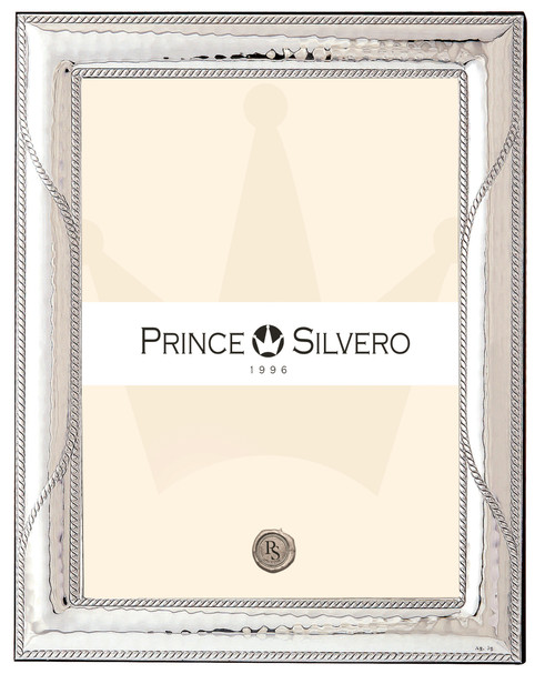 Engravable 'Nautical' 5x7 Sterling Silver Overlay Picture Frame