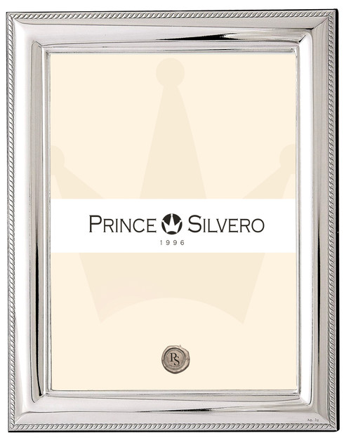 Engravable 'Cord' 5x7 Sterling Silver Overlay Picture Frame
