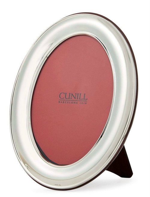 Engravable 'Oval Plain' 8x10 Sterling Silver Picture Frame
