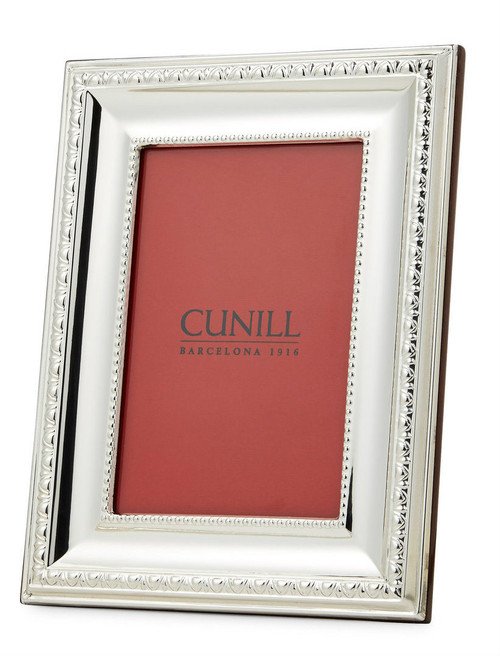 Engravable 'Prestige' 4x6 Non-Tarnish Sterling Silver Picture Frame