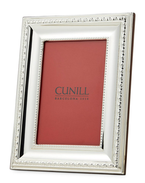 Engravable 'Prestige' 5x7 Non-Tarnish Sterling Silver Picture Frame