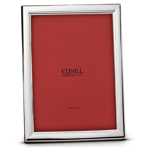 Engravable 'Danube' 5x7 Non-Tarnish Sterling Silver Picture Frame