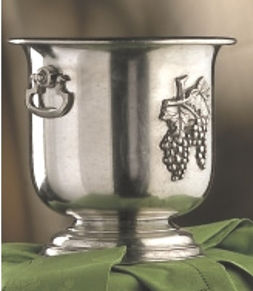 """CUNILL Pewter Grapes Cooler H: 5"""" - ITALY"""