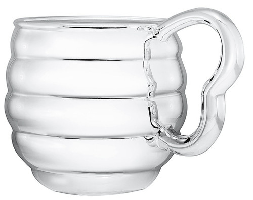 Engravable 'Bee Hive' Silver Plated Baby Cup