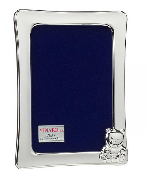 Engravable 'Cub' Sterling Silver 4x6 Picture Frame