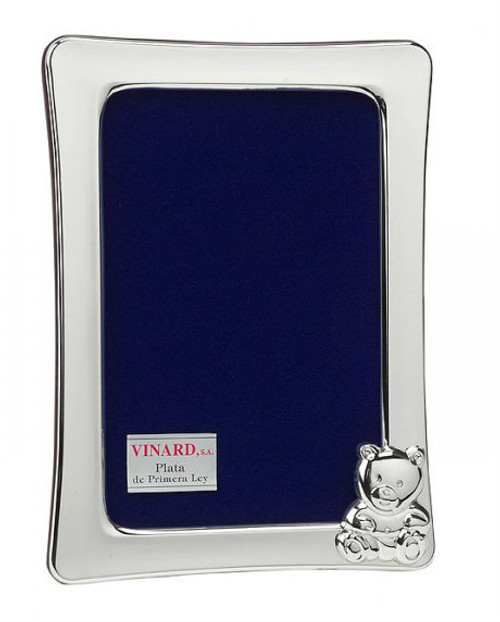 'Cub' Vertical 4x6 Silver Plated Picture Frame
