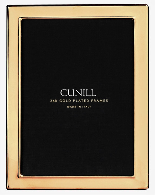 Cunill 'Contemporary' 4x6 Engravable Gold Plated Picture Frame