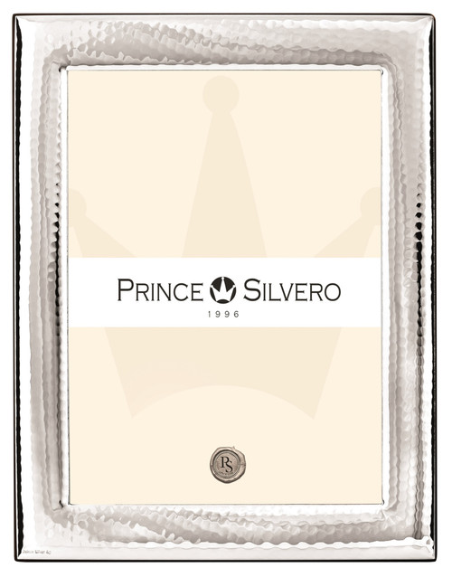 'Hammered' 8x10  Sterling Silver Overlay Picture Frame