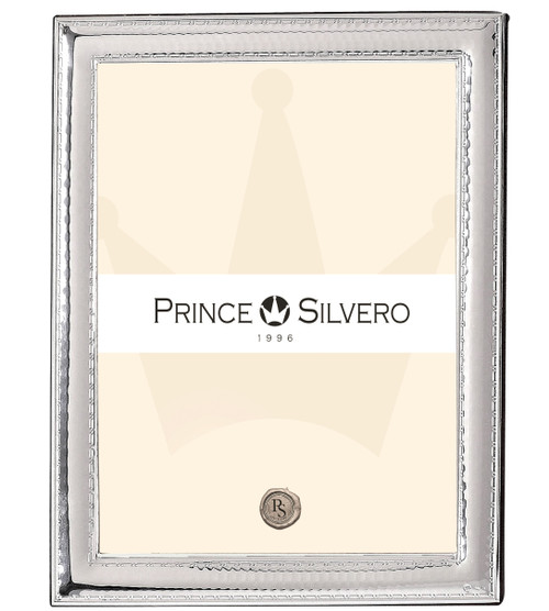 Engravable 'Hammered Scroll' 8x10 Sterling Silver Overlay Picture Frame