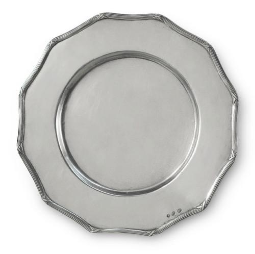 'Savoy Twelve Angle' Pewter Platter